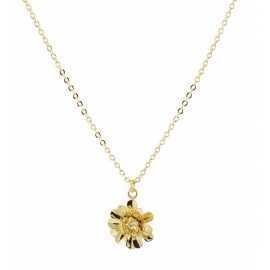 Collier Fleur doré