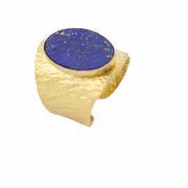 Bague Alison dorée Lapis lazuli