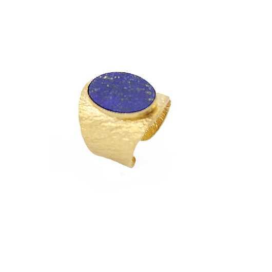 Bague Julietta dorée Lapis lazuli