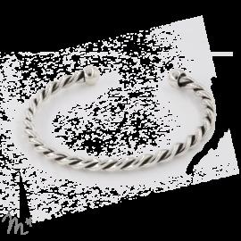 Bracelet torsadé argenté