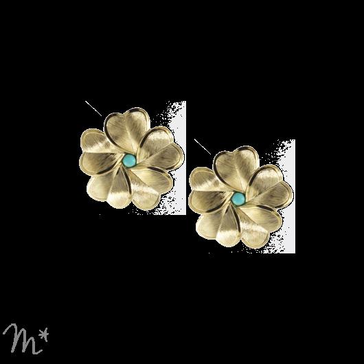 Boucles d'oreilles Eva 4 dorées