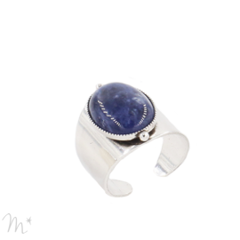 Bague Katy Argentée Sodalite