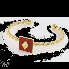 Bracelet Marion Doré Cornaline