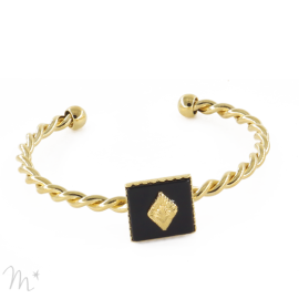 Bracelet Marion Doré Onyx