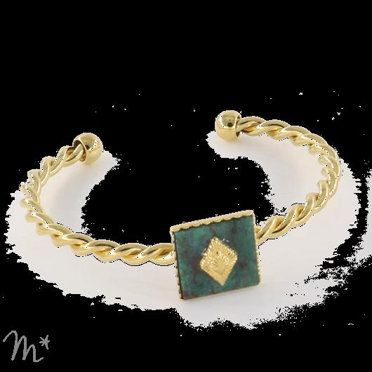 Bracelet Marion Doré Jaspe Vert