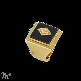 Bague Marion Onyx dorée