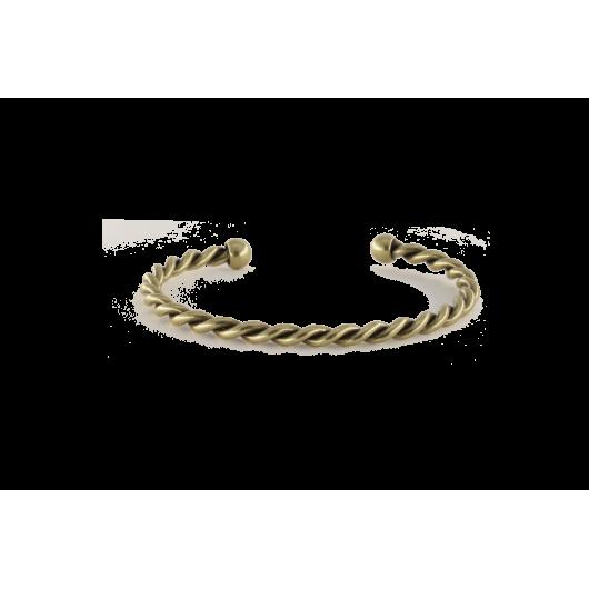 Bracelet torsadé bronze