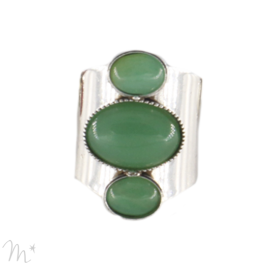Bague Mumy argentée Aventurine