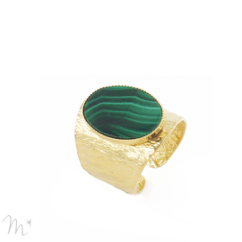 Bague Julietta Doré Malachite