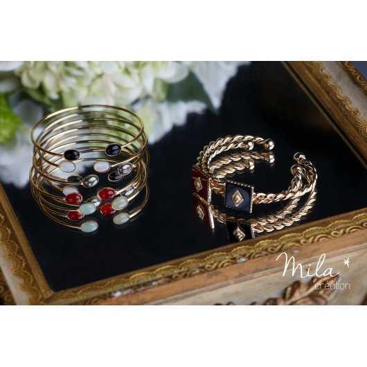 Bracelet Sienne doré Pyrite