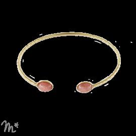 Bracelet Sienne doré Rhodochrosite