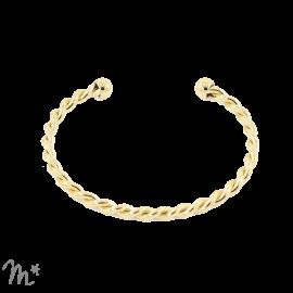 Bracelet torsadé doré
