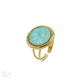 Bague Kim agate Amazonite