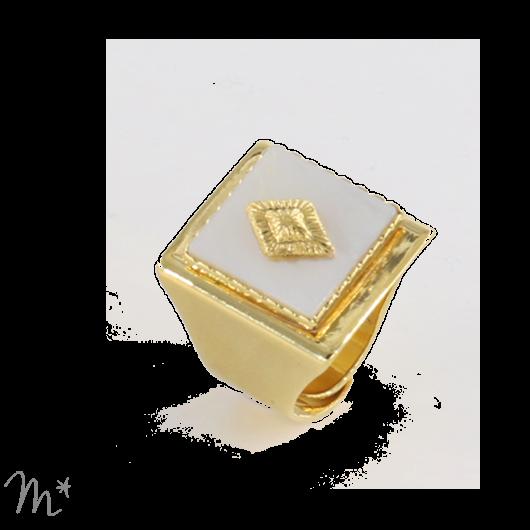 Bague Marion Nacre dorée