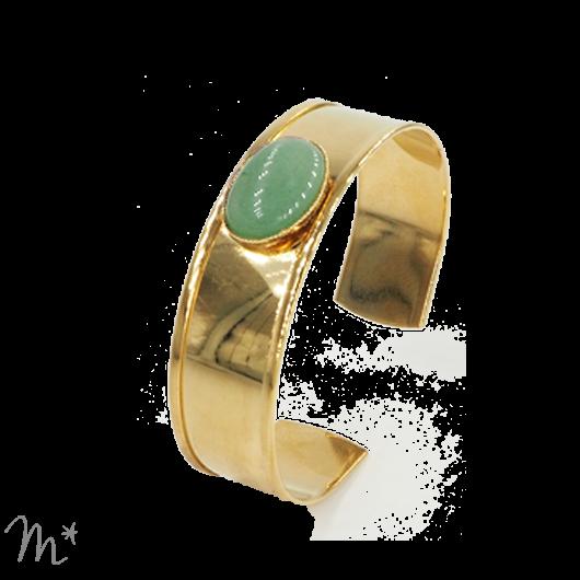 Bracelet Syracuse doré Aventurine
