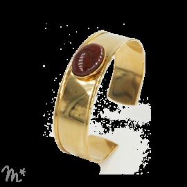 Bracelet Syracuse doré Jaspe rouge