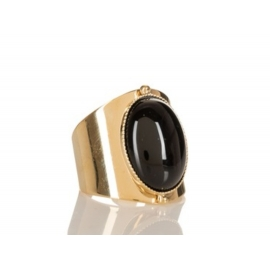 Bague Katy dorée onyx
