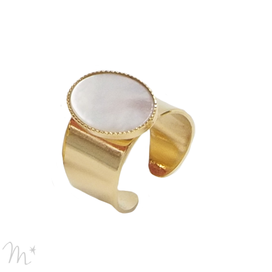 Bague Lovely nacre blanche
