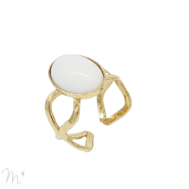 Bague Calipso blanche
