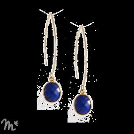 Boucles d'oreilles Mathilde lapis lazuli