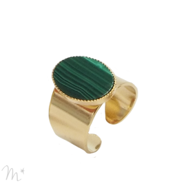 Bague Lovely malachite