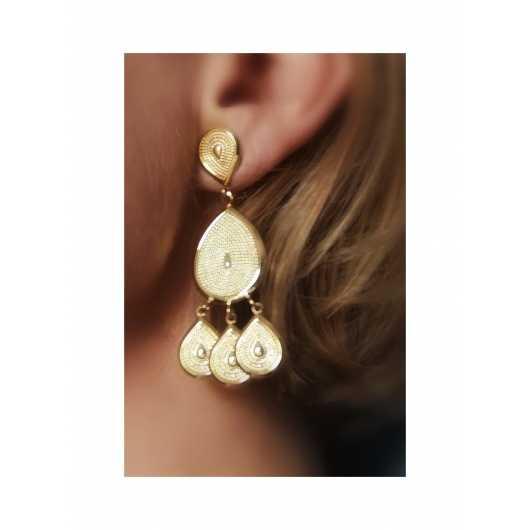 Boucles d'oreilles Moana clipées longues