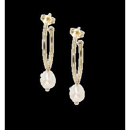 Boucles d'oreilles Arty créoles pearl