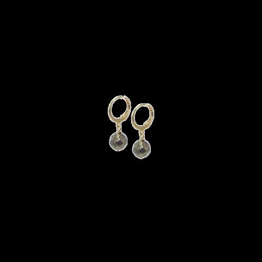 Boucles d'oreilles ARTY pierre de lune orange