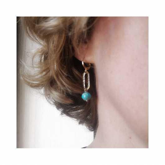 Boucles d'oreilles Judith anneau