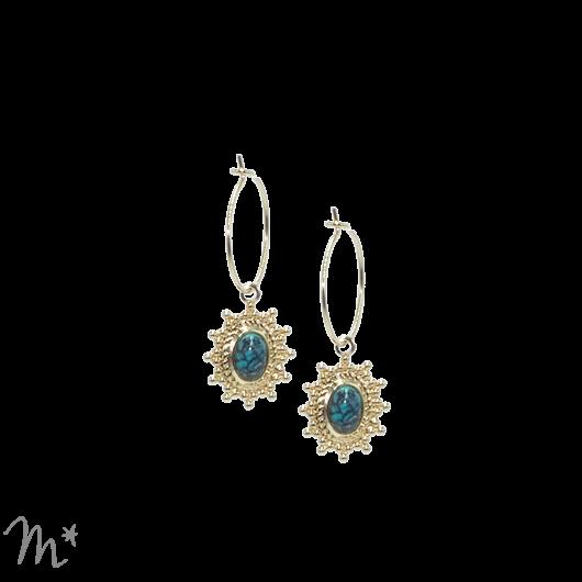 Boucles d'oreilles Paloma turquoise