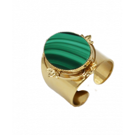 Bague Polly malachite
