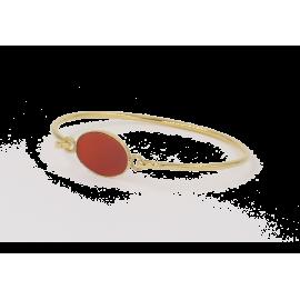 Bracelet Alison doré Cornaline